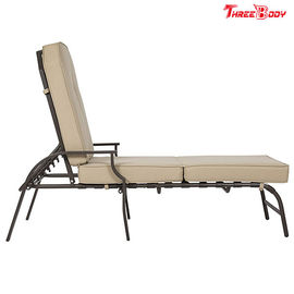 چین فرانسوی Style Patio Chaise Lounge Chair، Beige Outdoor Chaise Lounge Chairs کارخانه